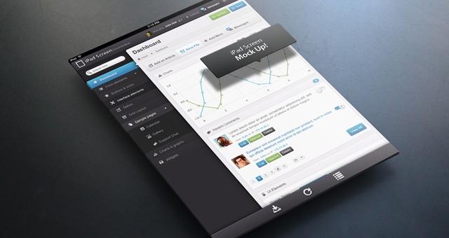 perspective tablet mock up psd mock up templates pixeden