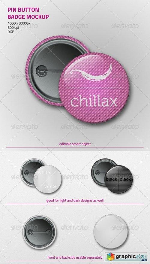 pin button badge mockup free download vector stock image