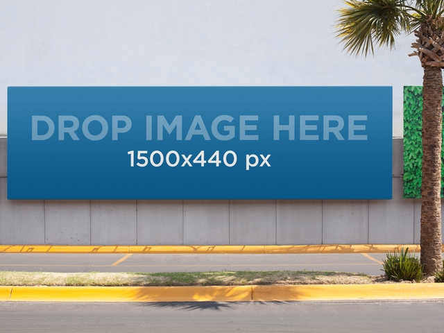 placeit horizontal banner mockup in a boulevard