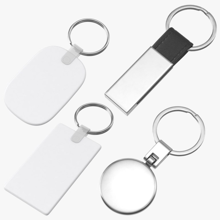 promotional keychain mockups collection