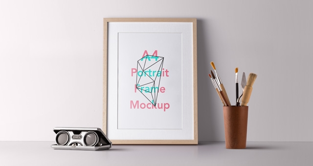 psd wood frame mockup vol2 psd mock up templates pixeden