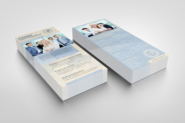 rack card mockup on behance