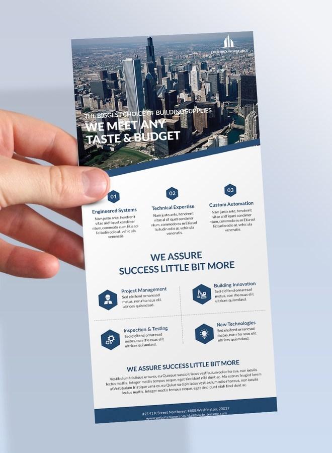 rack card psd mockup template download for free designhooks
