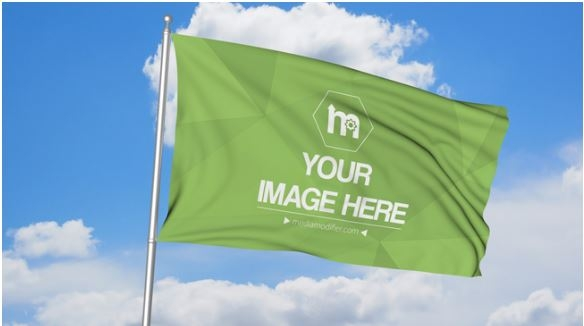 realistic flag mockup template sharetemplates