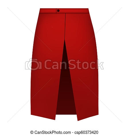 red skirt apron mockup realistic style