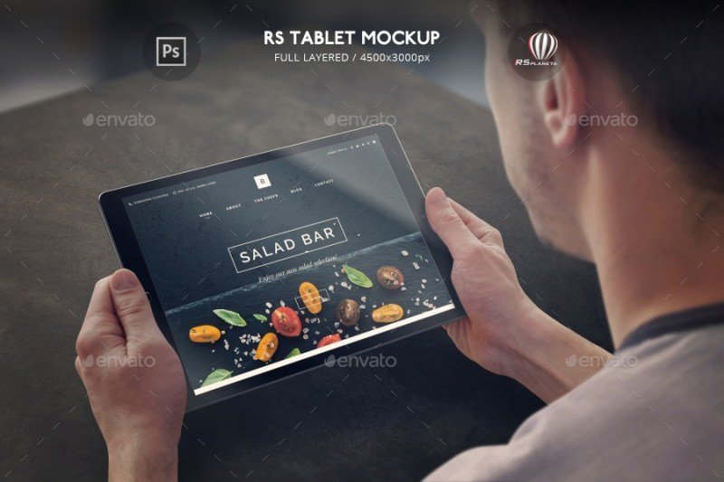 rs tablet mockup