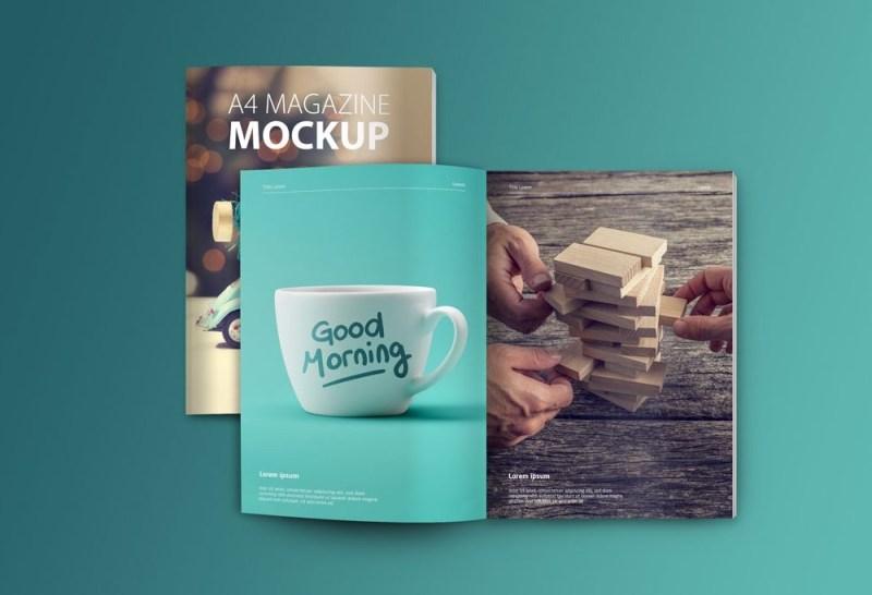 set of magazine mockups mockupworld