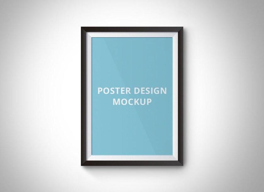 simple poster frame mockup mockupworld