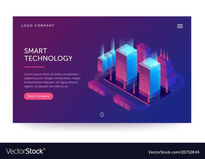 smart technology web banner with