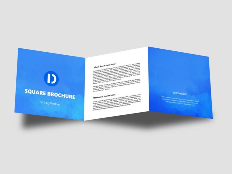 square brochure mockup free psd daily mockup