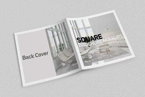 square brochure mockups