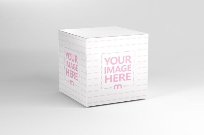 square cardboard box mockup generator mediamodifier