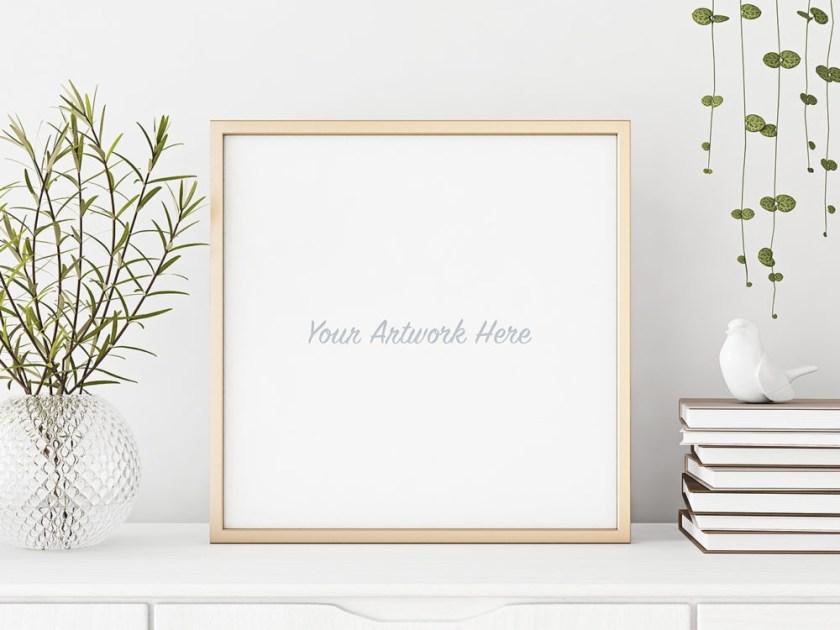 square poster frame mockup free mockup