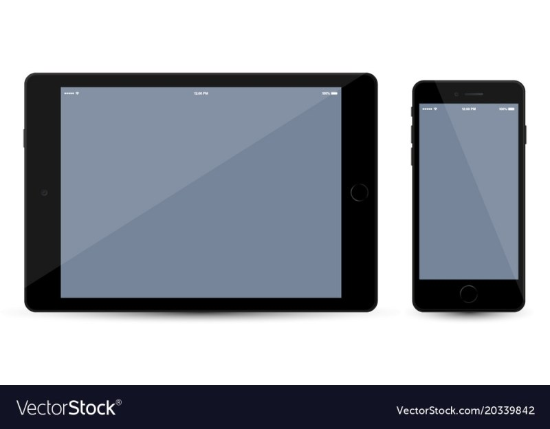 tablet and mobile smartphone mockup