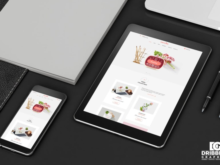 tablet and smartphone free mockup