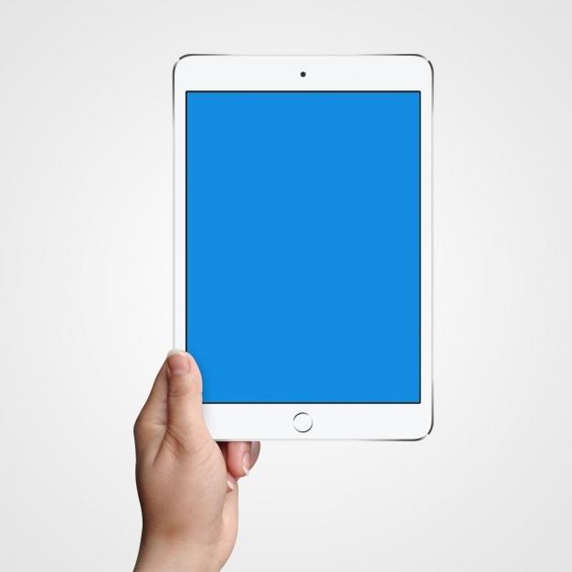 tablet mock up design psd file free download