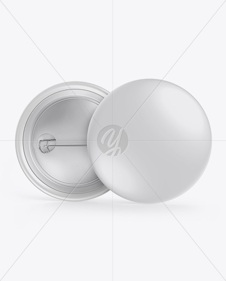 two glossy button pins mockup in stationery mockups on