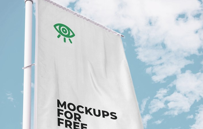 vertical flag mockup mockups for free