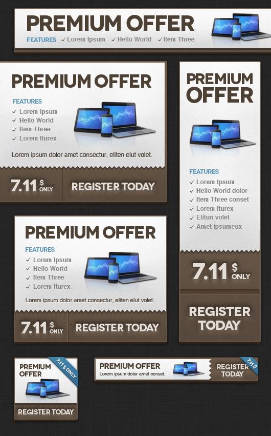 web banner templates psd
