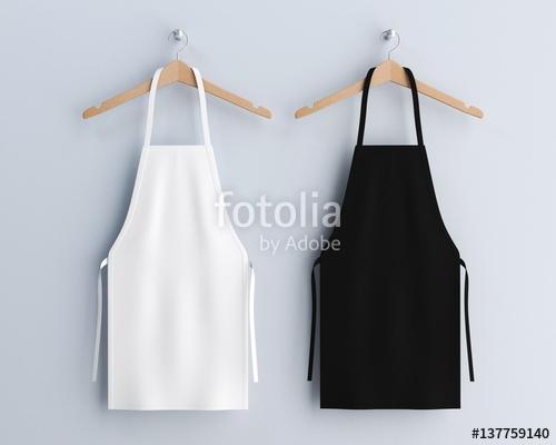 white and black aprons apron mockup clean apron stock