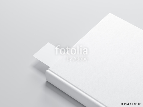white book with bookmark mockup stock photo and royalty