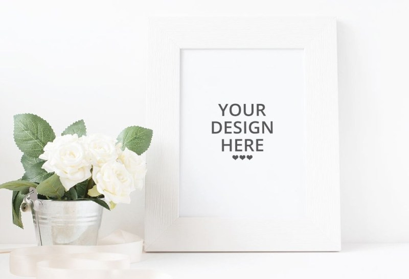 white picture frame mockup mockupworld