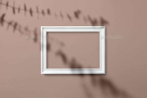 white picture frame mockup