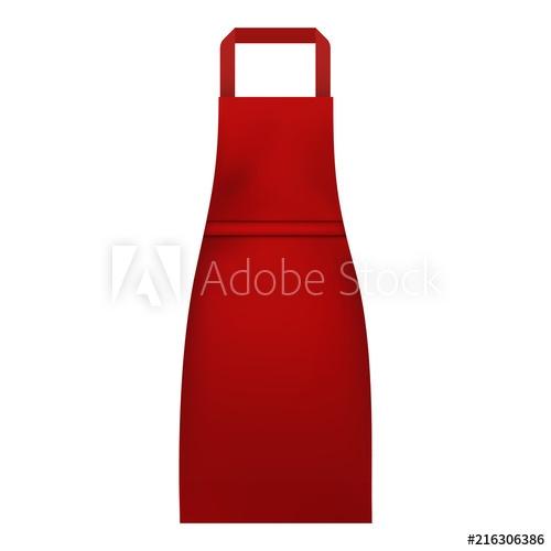woman kitchen apron mockup realistic illustration of woman