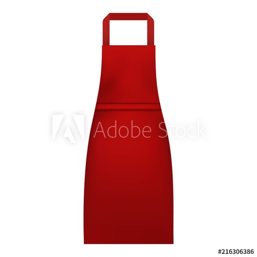 woman kitchen apron mockup realistic illustration of woman