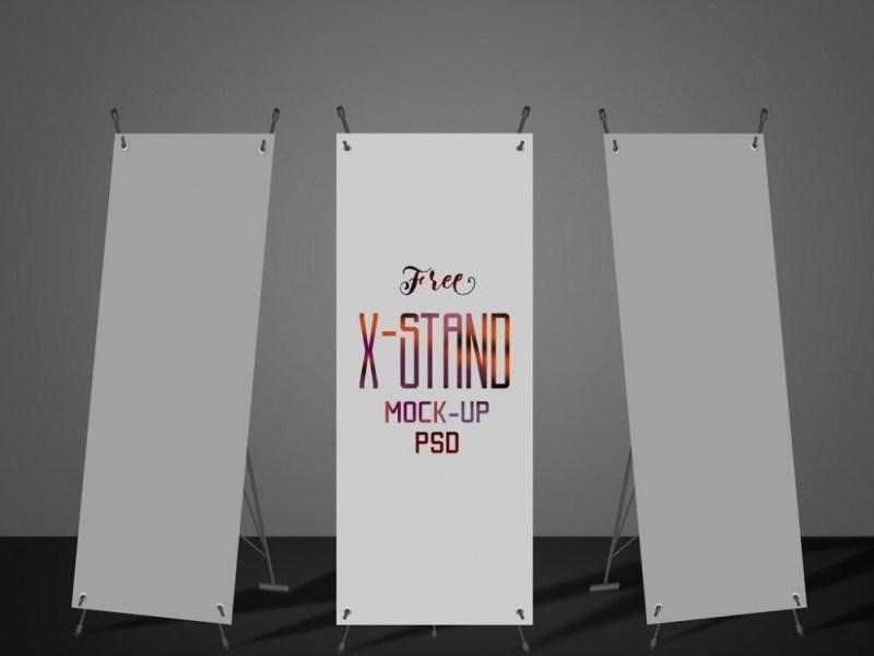 x stand banner mockup mockupworld