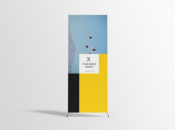 x stand banner mockup