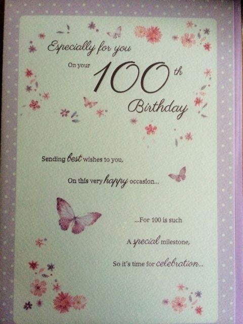100th Birthday Card - candacefaber.com