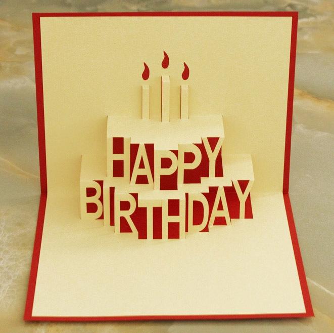 3d happy birthday card pt034