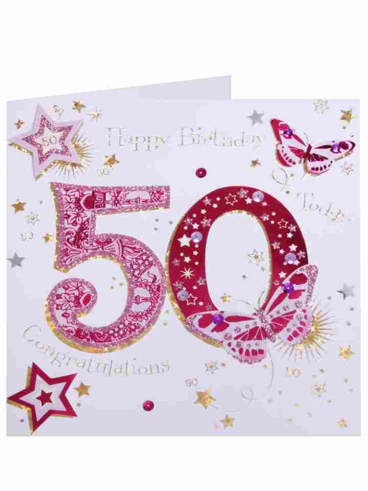 """50th Birthday Card - candacefaber.com"""" title="""