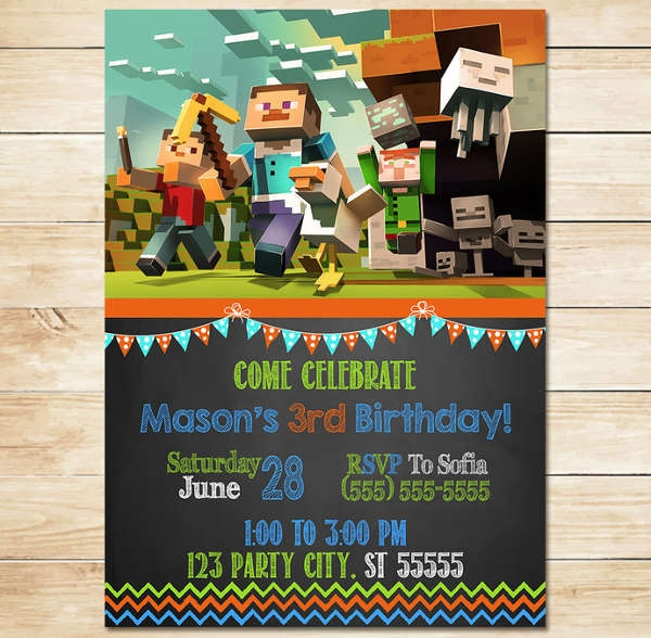 "Minecraft Birthday Card - candacefaber.com"" title="