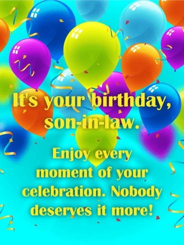 Son In Law Birthday Card - candacefaber.com