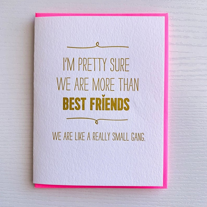 friendship card birthday card for best friend gift we are like a really small gang funny card for friend best seller