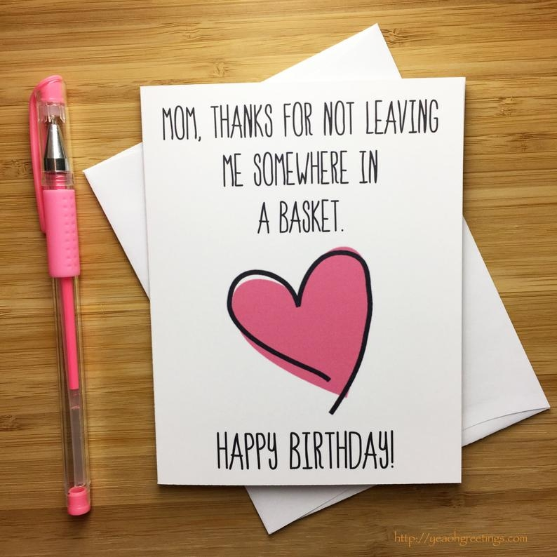 happy birthday mom birthday card for mom mother happy birthday funny birthday card funny mom card moms birthday greeting card funny