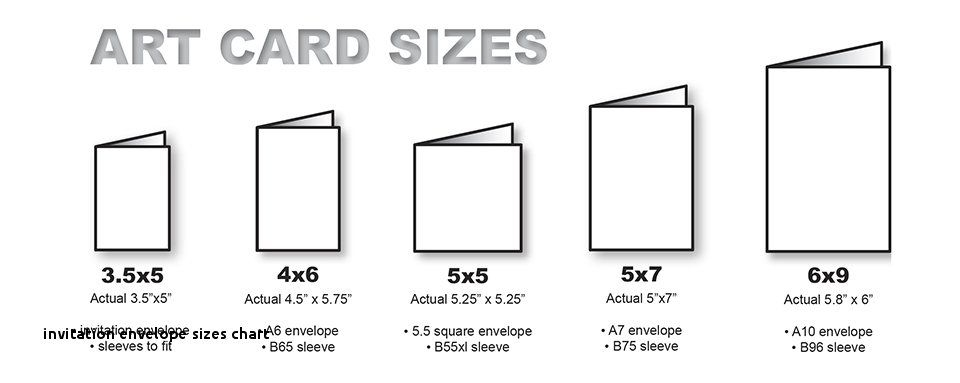 invitation envelope sizes chart standard size greeting card