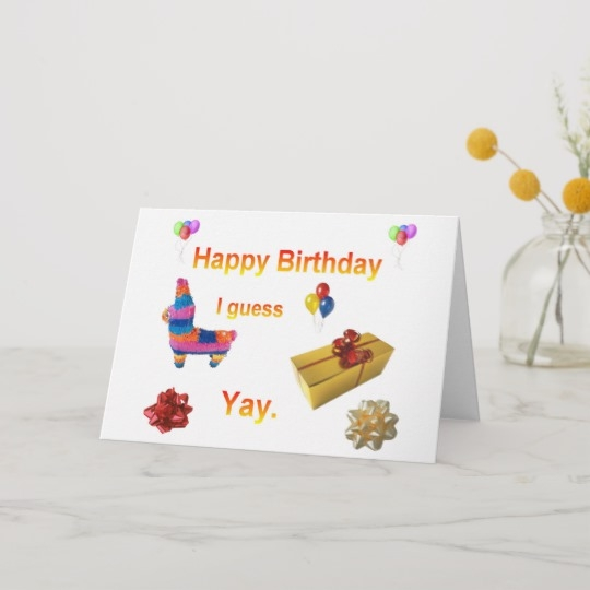 "Sarcasm Birthday Card - candacefaber.com"" title="