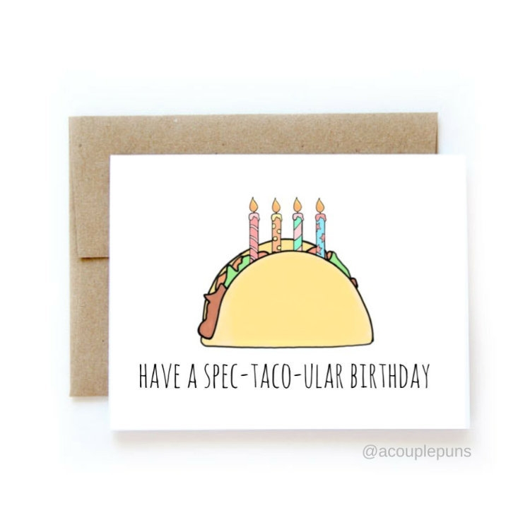 "Birthday Card Puns - candacefaber.com"" title="