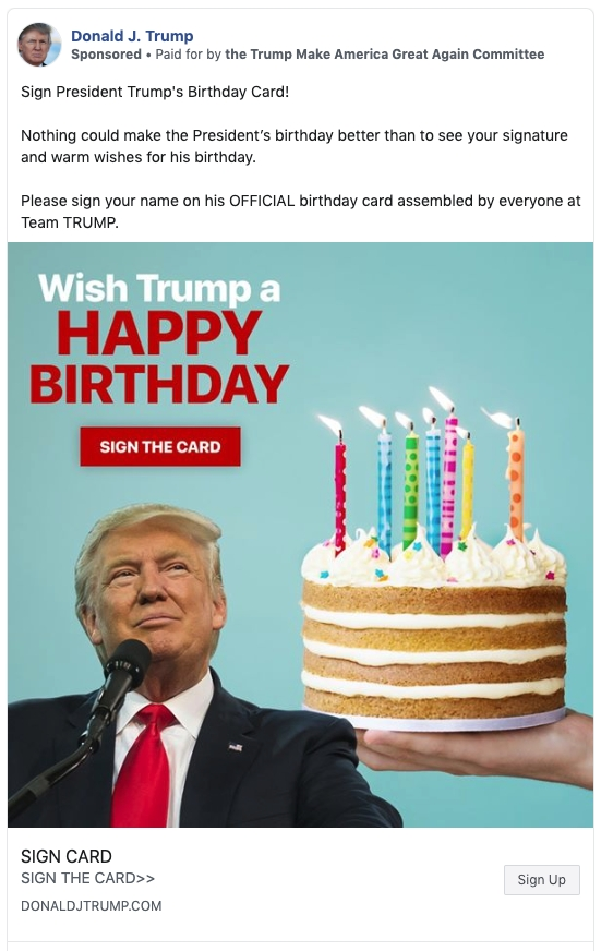 Trump Birthday Card - candacefaber.com