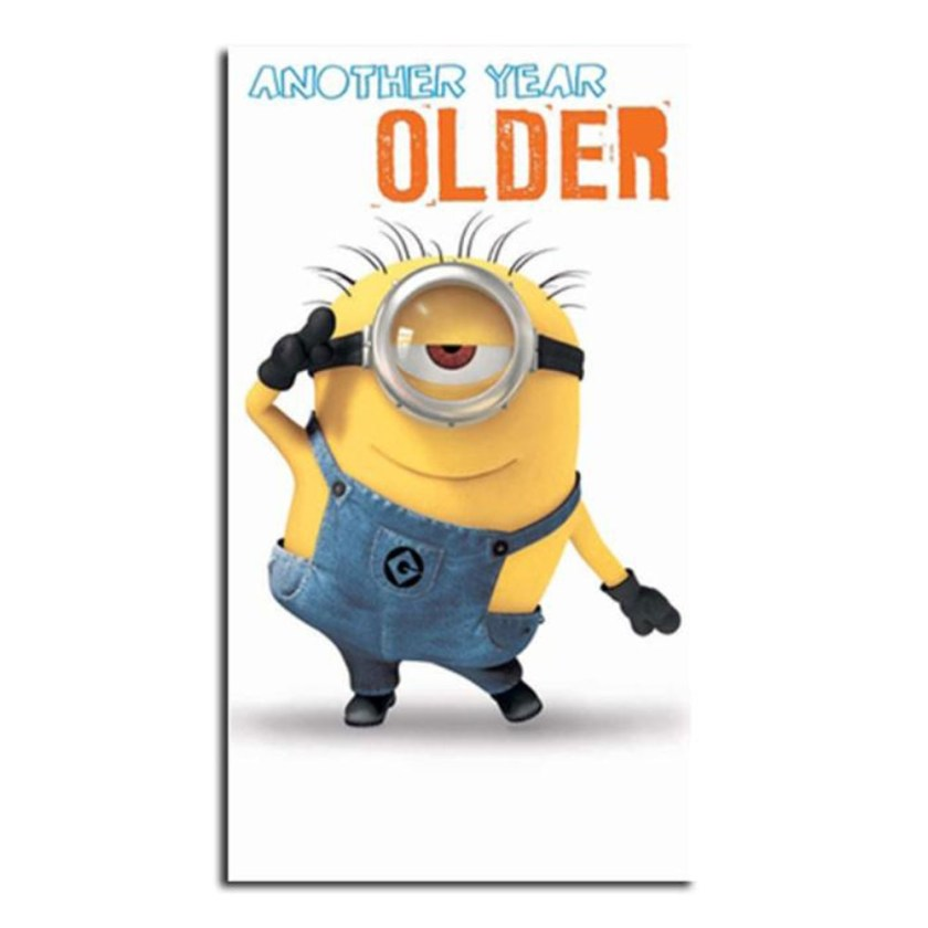 another year older minions birthday card