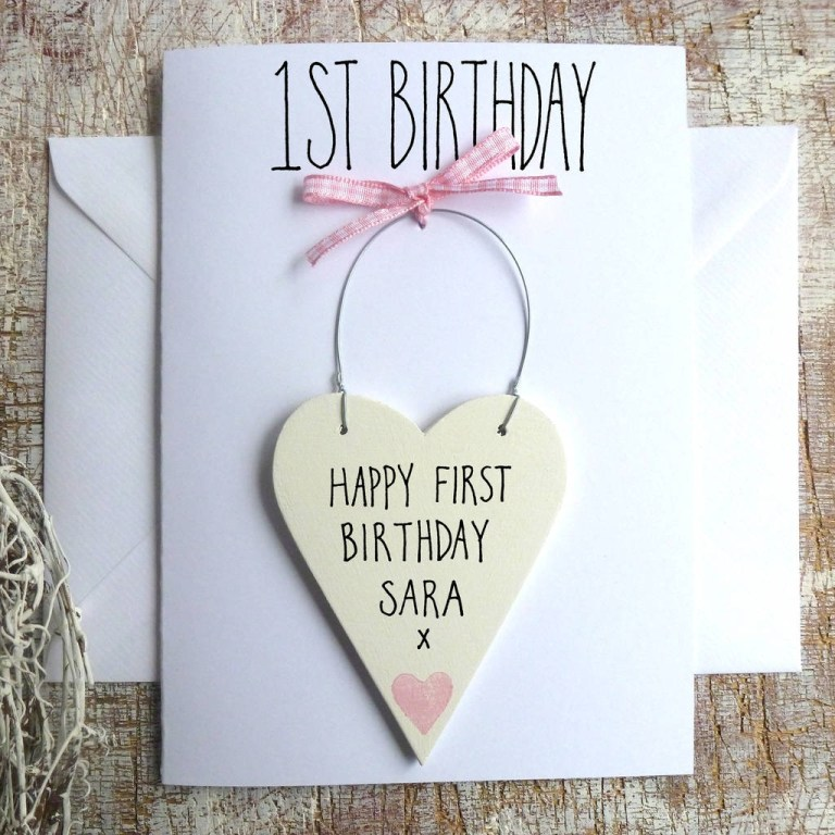 ba girls 1st birthday card