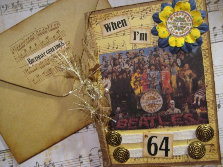 beatles birthday card when im 64 sgt peppers lonely