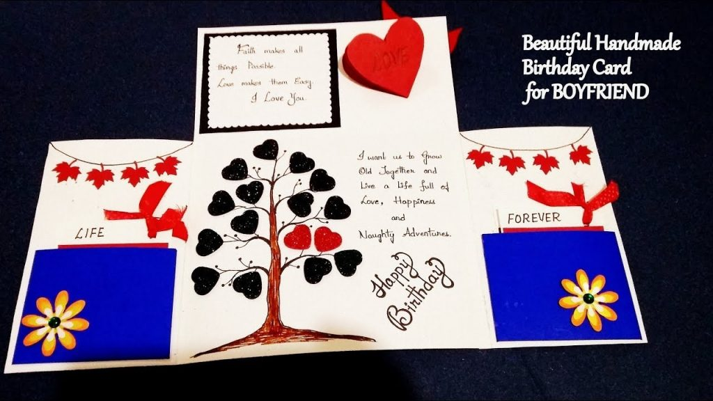 beautiful handmade birthday card for boyfriend complete tutorial