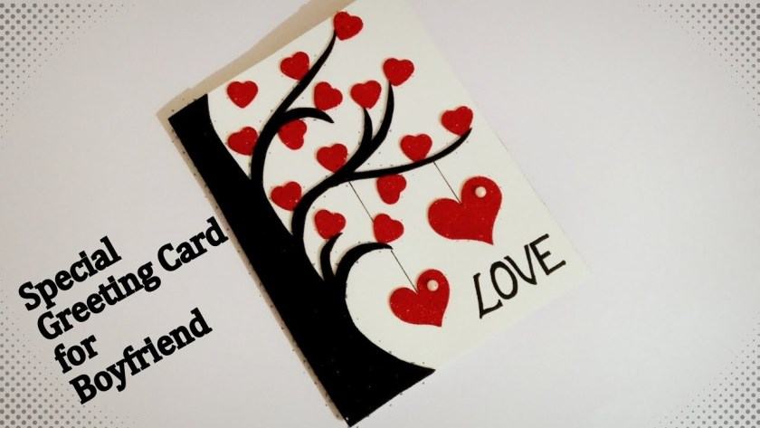 beautiful handmade greeting card for boyfriend greeting card idea