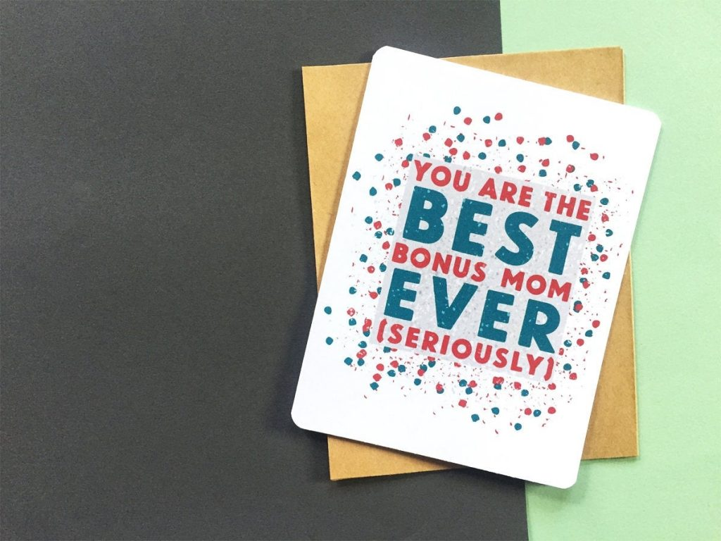 best bonus mom card mom birthday card bonus mom birthday card mom birthday card funny card for stepmom mother in law mentor