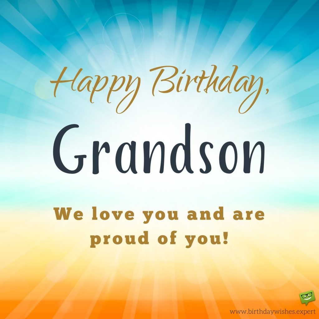birthday card for a grandson from your grandma grandpa