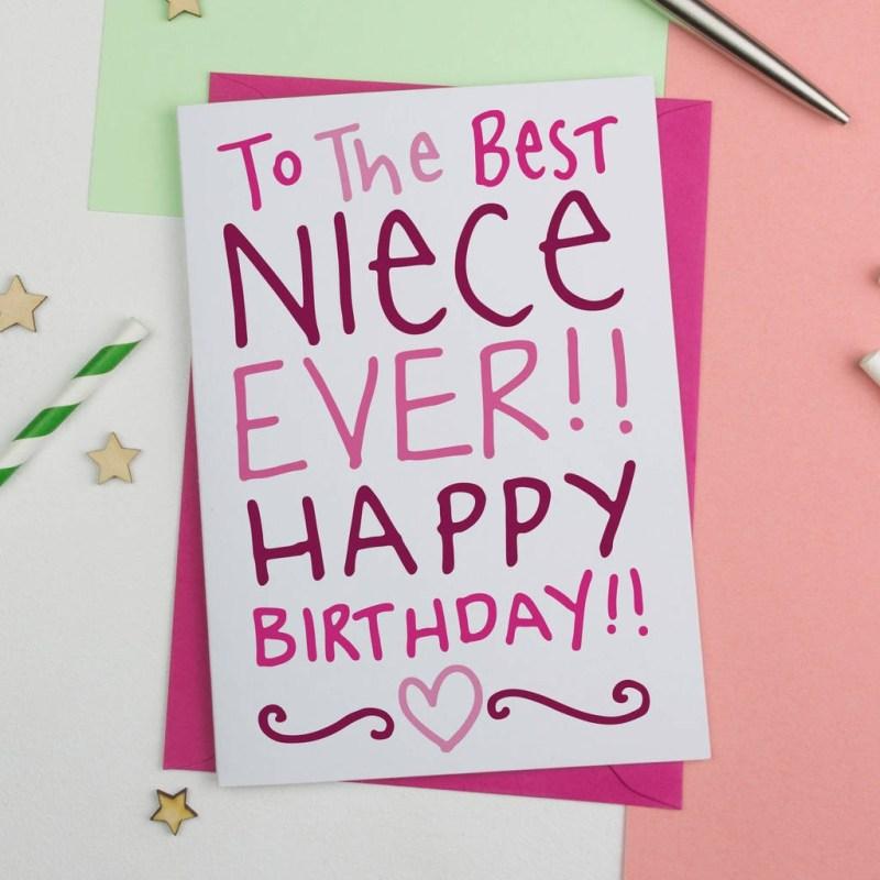 birthday card for best niece ever birthday card a is for alphabet